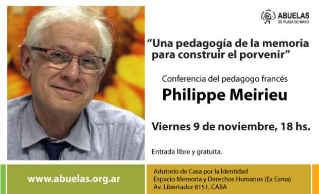 Imagen de Conferencia del pedagogo Philippe Meirieu